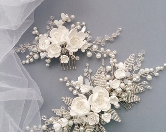 Pearl Bridal hair comb, Wedding hair comb, Bridal headpiece, Wedding headpiece, Bridal hair piece, Wedding hair piece, Bridal head piece