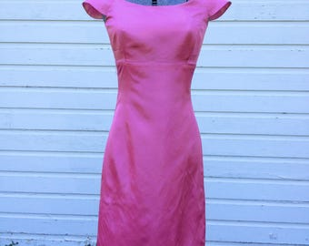 Pink Party Dress, Tafetta, Size 2, knee length dress