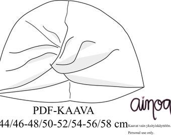 Silmu -pipo pdf-kaava 44/46-48/50-52/54-56/58 cm