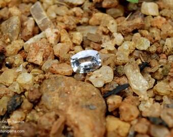 Loose White sapphire, White Sapphire Gemstone Custom Engagement Ring1.4 carat Ceylon white sapphire .Unheated Eye clean white sapphire