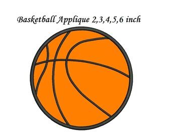 Basketball Applique Etsy