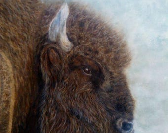 Wildlife Painting bison