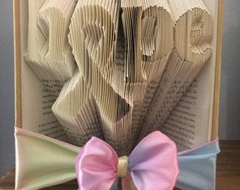 Folded Book Art/ Origami- Hope