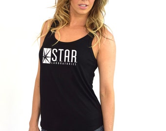 STAR Lab Shirt STAR Laboratories Flash, The TV Series S.T.A.R. Labs Crew Neck Soft High Quality Triblend Women Tank Top Shirt