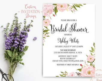 Bridal shower invitation rustic, Bridal shower invitation, bridal shower invites, bridal shower invitation template - US_BI0301d