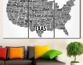 Usa Map Collage Us State Map Black And White Map Usa Map