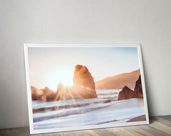 Beach print, Landscape photo, beach photography, beach decor, beach wall art, beach prints, landscape print, ocean print, Coastal Beach Art