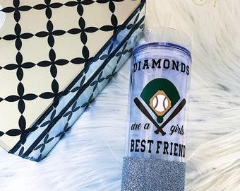 Diamonds Are A Girls Best Friend//Glitter Dipped//Tumbler