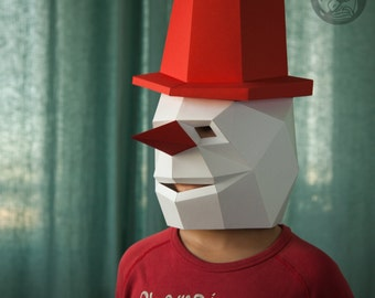 Snowman Low Poly Mask Download PDF