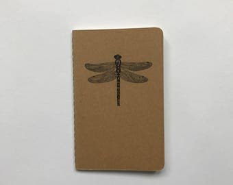 Hand Drawn Dragonfly Moleskine Notebook