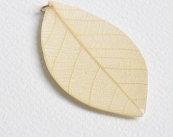 Hand made Skeleton Leaf with Paper and Resin