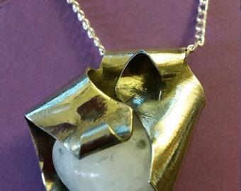 Abstract Heart Quartz necklace