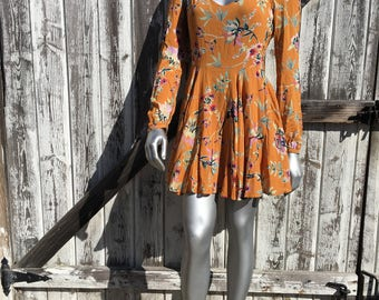 Women's Rosalinda Floral Long Sleeve Mini Dress Size 6