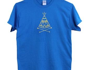 ktsv SALE! mens design saphire blue T-shirt