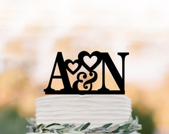 personalized wedding cake topper initial cake topper monogram cake topper with letter for birthday wedding cake topper custom letter