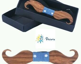 Wooden bow Moustache