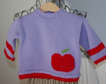 sweet rectangularly Apple sweater in Merino Wool