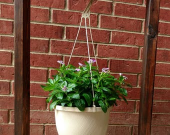 Wood Hanging Basket Plant Stand with hook (hanging basket with plant not included)