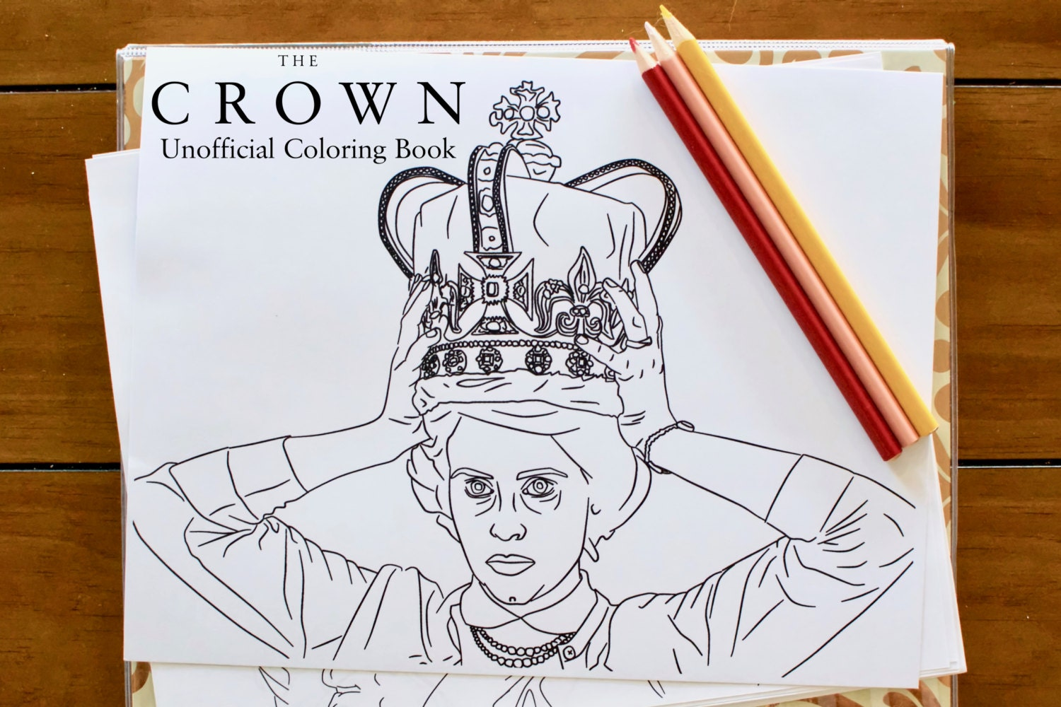 The Crown Coloring Book Unofficial Printable Download For