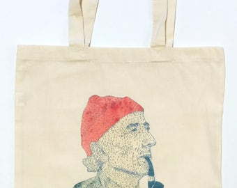 Jacques Cousteau Tote Bag