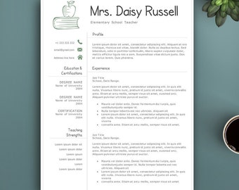 Professional Resume Template for Pages & MS Word. Complete 1,2,3 Pages Resume Template | Teacher Resume Template. Creative Resume.