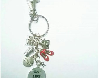 Key Chain With Initial, JW Gift, Pioneer or Publisher, Best Life Ever, Ready To Ship, Red Shoes, Coffee Cup, Bible