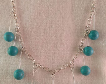 Semi Precious Turquoise Beaded Necklace