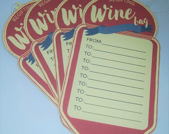 Regifting Wine Bag Tags