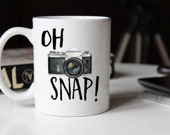 Oh Snap Mug, Photography Gift, Funny Mug, Gift for him, Photographer, For him mug, Photographer Mug , Coffee Mug, AAA_002