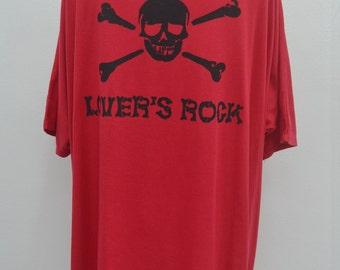 SUPERLOVERS Lover's Rock Women's Oversize Tee T Shirt Size L - XL
