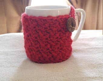 Lacy Crochet Mug Cozy