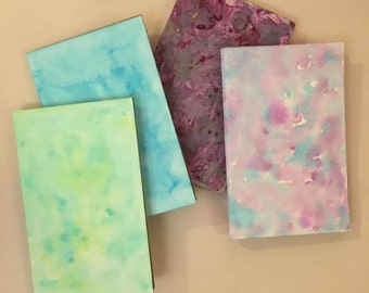 Handmade watercolor Notebooks