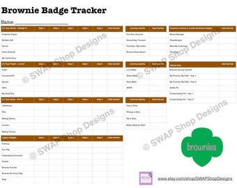 PRINTABLE - Brownie Girl Scout Badge Tracker
