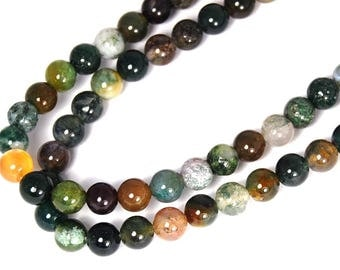 """Two 15"""" strands Indian Agate Beads 6mm"""