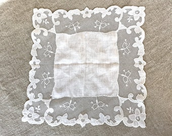 Beautiful Vintage Lace Bride's Hankie
