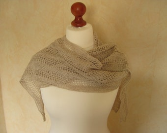 Lace shawl scarf Leinenschal linen Cape linen cloth Linen yarn of alluring nature