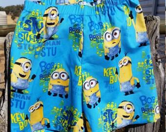 Minions Size 4 Kids Shorts
