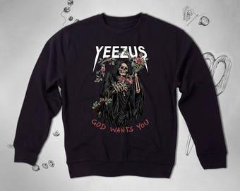 Yeezus Hoodie Kanye West Sweatshirt Yeezy Jacket Yeezus Tour Sweatshirt Yeezus Jacket Kanye West Clothing Pablo Sweatshirt Men Sweatshirt 32