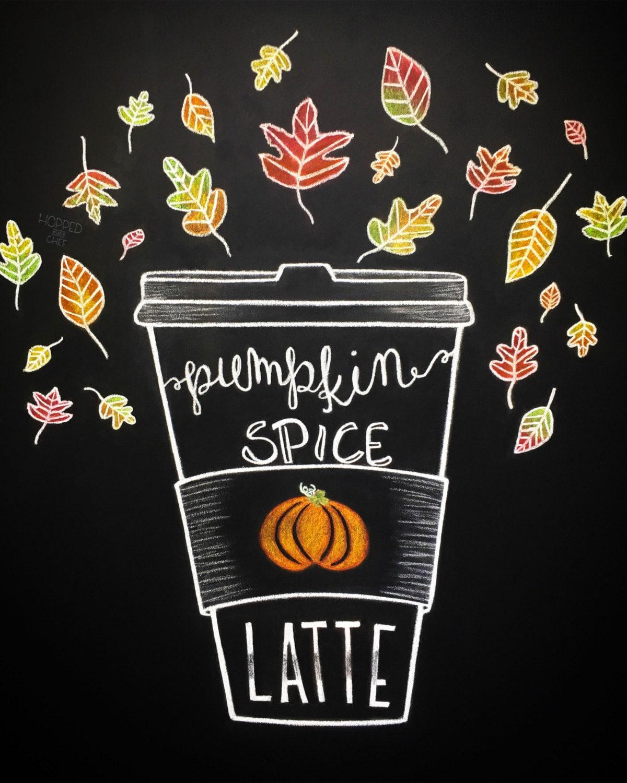 Pumpkin Spice Latte Print DIY Chalkboard Printable Fall