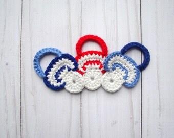APPLIQUE CROCHET-Crochet Pattern Applique Pacifier -Crochet Pattern Applique - Crochet Applique Pattern