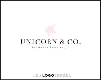 Unicorn Logo Design, Modern Logo, Modern Photography Logo, Unicron Photography Logo, Cute Modern Logo, Modern Salon Logo, Bakery Logo Design