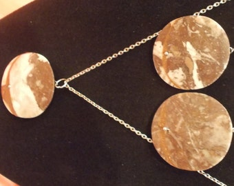 Stone Earring and Necklace Set
