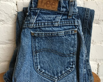 Vintage 80's 90's Riders by Lee Women's High-Waisted Distressed Jeans 24W 29L Made in USA 24x29
