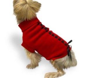 Red Ribbon Sweater = Size XS
