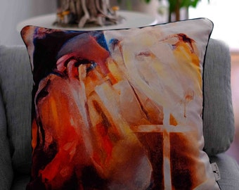 Blurred 2 Design Cushion, inspired from the work of Turkish painter Mehmet Ozet (copyrighted production)