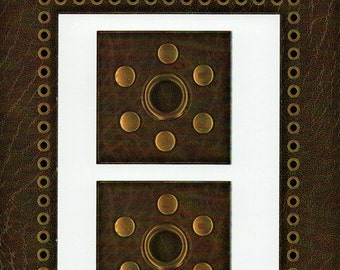Brown Leather Cardstock Frame My Mind's Eye This & That Scrapbook  Embellishments Cardmaking Crafts