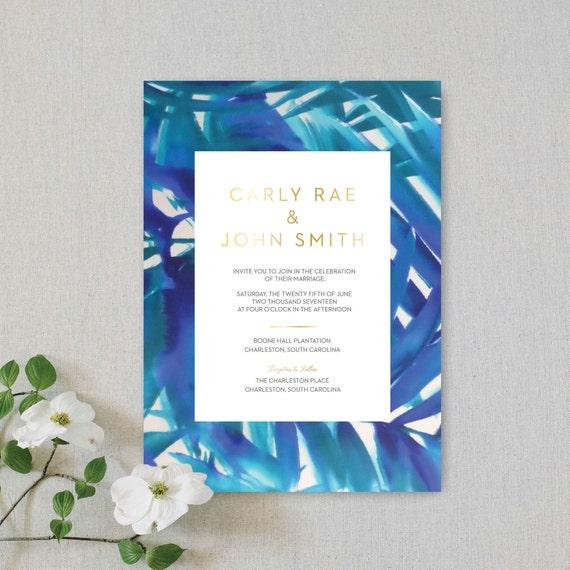 GOLD FOIL Wedding Invitations Gold Foil Letterpress