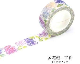 BestWashiTape Japanese Washi Tape, Masking Tape, Planner Stickers,Crafting Supplies,Scraping Booking,Adhesive Tape,Floral Washi Tape