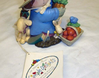 Garden Delights / Simple Delights by Sue Dreamer , Porcelain Collectible Figurine, St Gertrude