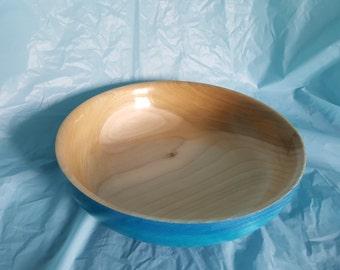 Wood turned tulip bowl